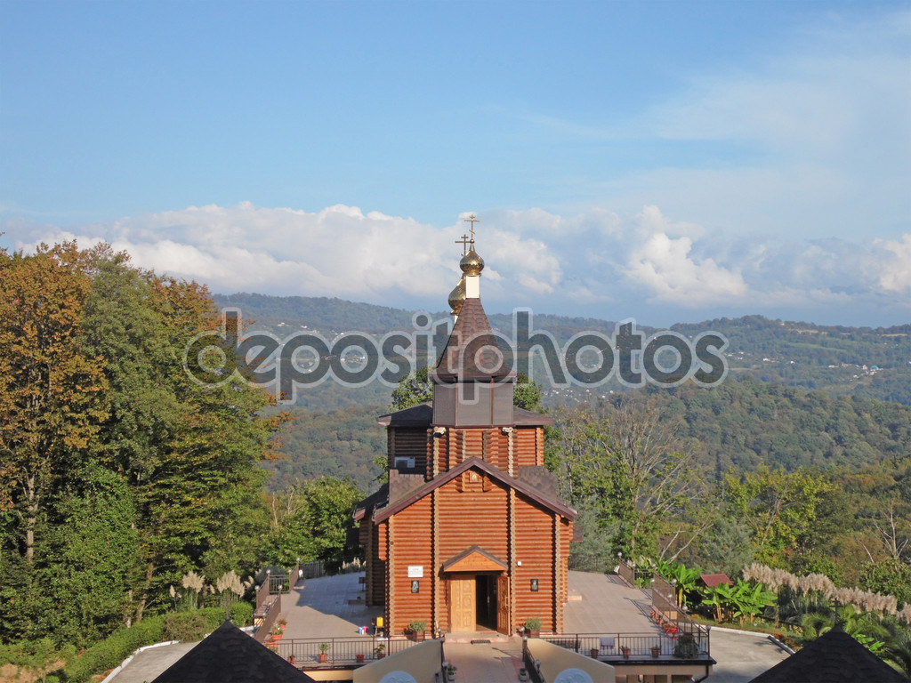wooden church, northern caucasus, russia