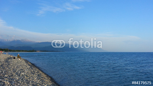 black sea and mountains, seaside adler